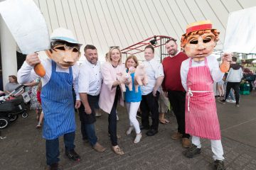 Pigtown Committee Members pictured at Limerick's Milk Market